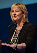 Deborah Bush addressing the 12th World Congress on Endometriosis